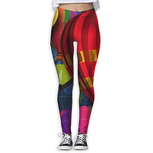 cabd214a285375 Amazon.com: WJM SHOW Women's Hot Air Balloons colorful Leggings Yoga Long  Pants Casual Sweatpants Athletic Gym Pants: Clothing