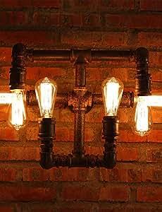 Candelabro de pared/pared velas luces/lesew and luces mini estilo rústico/L?ndlich metal