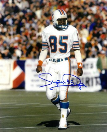 Miami Dolphins Autographed White Jersey (Mark Duper Signed Autograph Miami Dolphins 8x10 Photo Super white jersey - Autographed NFL Collectibles)