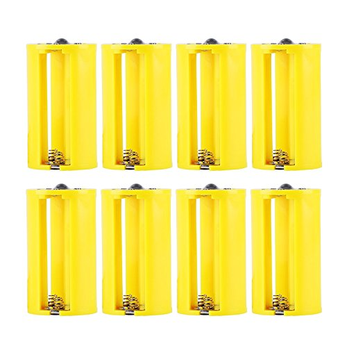 - Whizzotech Parallel AA to D Battery Adapters Holder 1.5V Output Case Box 3 AA To 1 D Converter pack of 8 (Yellow)