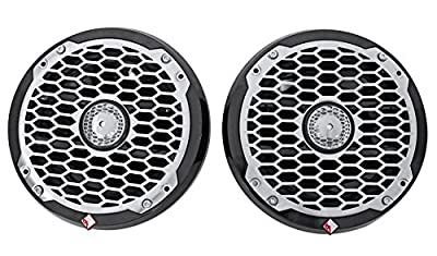 "Pair Dual Rockford Fosgate PM2652B 6.5"" 680w Marine Wakeboard Speakers+Amp+Kit"