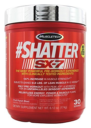 MuscleTech Shatter SX7 Fruit Punch Blast 30 Servings