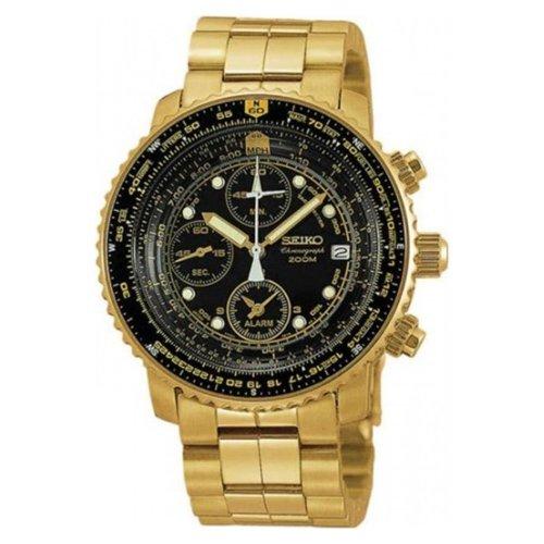 Flight Chronograph Black Dial (Men's Gold Tone 200m Flight Chronograph Black Dial)
