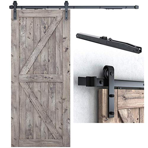 6.6FT Soft Close Heavy Duty Sturdy Sliding Barn Door Hardware Kit - Smoothly and Quietly - Simple and Easy to Install -Includes Step-By-Step Installation Instruction -Fit 36