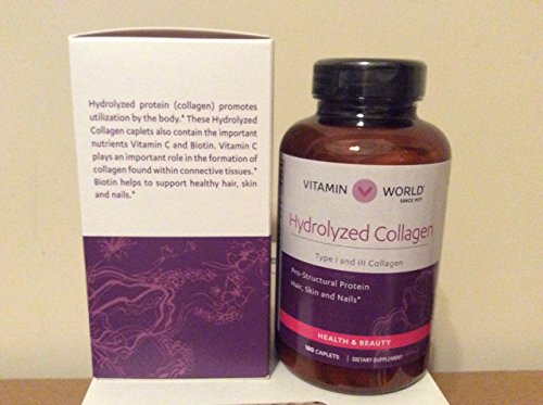 Vitamin World Hydrolyzed Collagen 4000mg 180 caplets