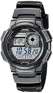 CASIO AW-1000W-1A - Reloj con correa de resina, para hombre, color negro