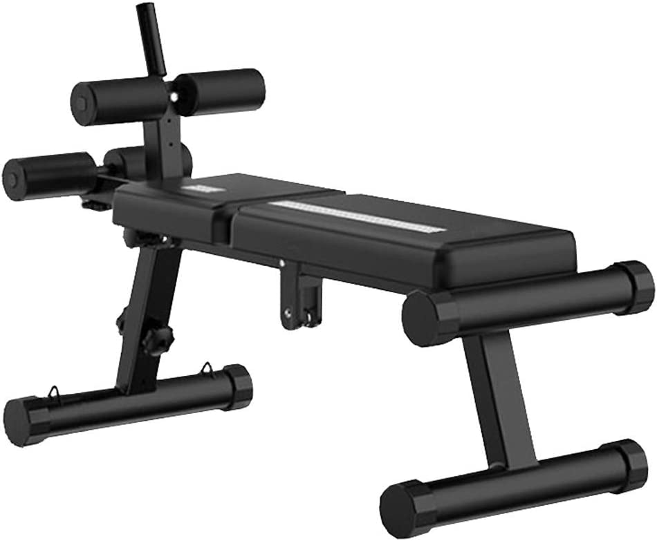 UK 3-5 Days, Black} Suyue Weight Bench Adjustable Slant Board Folding Design Sit-ups Board Dumbbell bench For Exercises Adjustable Height Settings For Home Gym,Max Weight Capacity 440Lbs