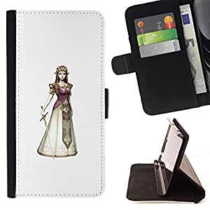 Momo Phone Case / Flip Funda de Cuero Case Cover - Princesa Reina;;;;;;;; - HTC Desire 820