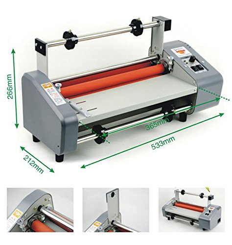 220V 13'' Laminating Machine Laminator Four Rollers Hot Roll Laminating Machine