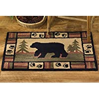 Park Designs Adirondack Bear Hooked Rug, 24 x 36