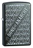 Zippo Lighter - Sons of Anarchy Repeated Logo Gray Dusk