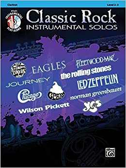 Book By Alfred Publishing Staff Classic Rock Instrumental Solos: Clarinet (Book & CD) (Classic Rock Instrumental Solos - Level 2-3) (Pap/Com)
