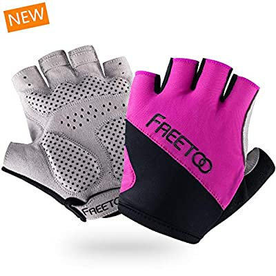 FREETOO Women Workout Gloves, Gym/Weight Lifting/Fitness Gloves for Bench Press, Dumbbell, Barbell, Pull Up Bar, Horizontal Bar, Battle Rope, Cycling and Other Weight Training