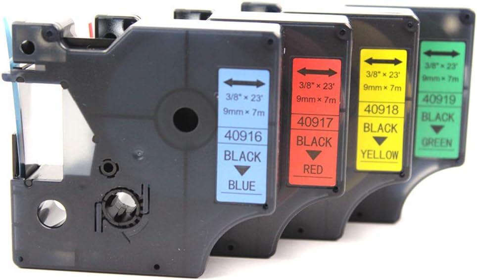 KATRIZ Ricambio per Dymo 40913 Nastri Adesivi compatibili per Dymo LabelManager 160 280 LabelWriter 450 Duo 5 Pezzi 5 * Nero su Bianco