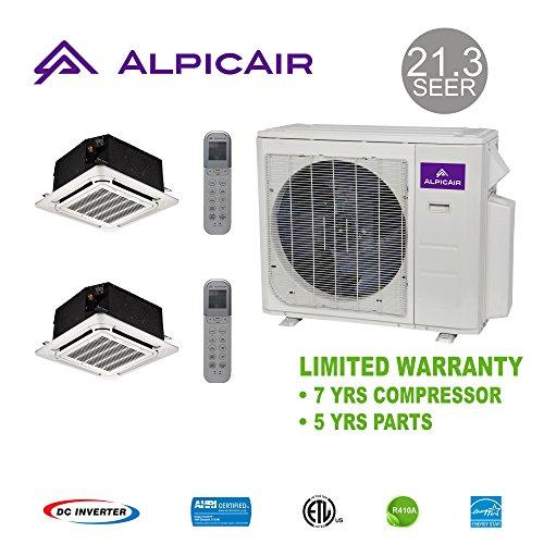AlpicAir +Multi Dual-Zone 18,000 BTU Ceiling Cassette Heat P