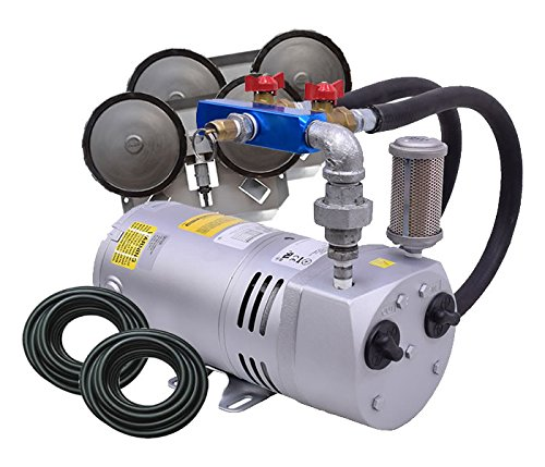 EasyPro PA50W Rotary Vane Pond Aeration System 1/4 HP Kit with Quick Sink Tubing