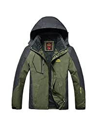 Tawill Men's Outdoor Waterproof Lightweight Travel Jacket With Hooded
