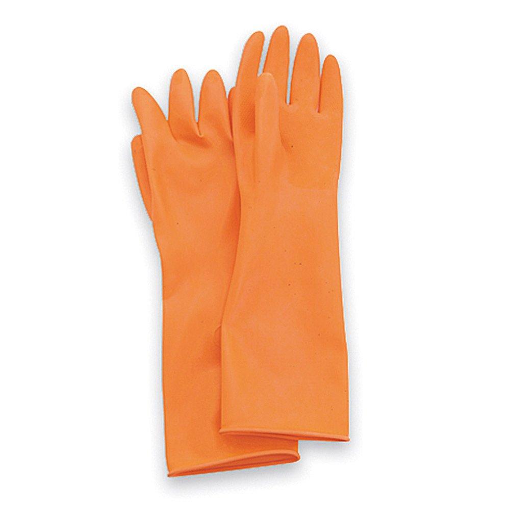 North by Honeywell AK1815/O/11 Ak Acid Cleanroom Gloves Latex, 11, Orange (0)