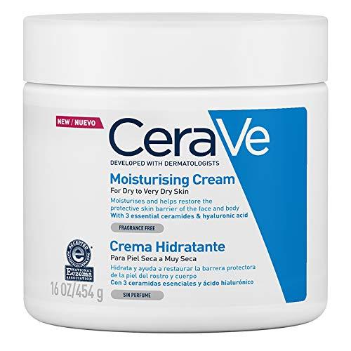 CeraVe Crema Hidratante |454gr| Hidrante diario para rostro y cuerpo para piel s