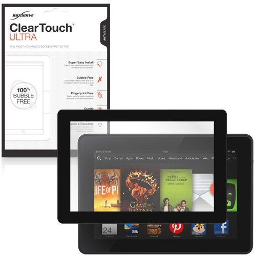 Kindle Fire HD 7.0 (2013) Screen Protector, BoxWave® [ClearTouch Ultra Anti-Glare] Bubble Free Screen Guard w/ Colored Border for Amazon Kindle Fire HD 7.0 (2013) - Black