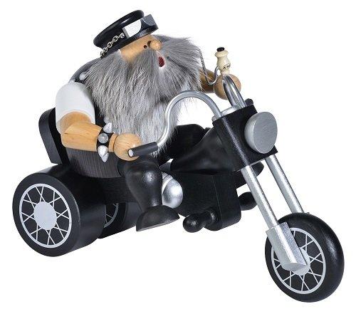 KWO Biker on Motorcycle German Christmas Incense Smoker Made in Germany