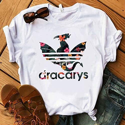 ZCYTIM Camiseta Tronos Madre del dragón Camisa Dragón Fuego Piel de Invierno Moda para Mujer Camiseta de los Fans Regalo: Amazon.es: Deportes y aire libre