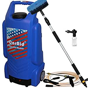 Caraid 9906 portable pressure washer with water tank large garden outdoor for Portable watering tanks for gardens
