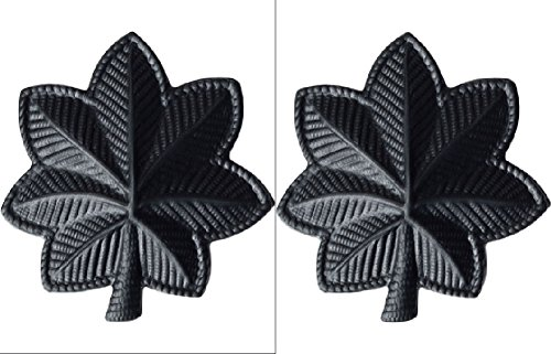 U.S. Army Metal Pin On Officer Rank BLACK - 1 PAIR (O5 - LT Colonel)
