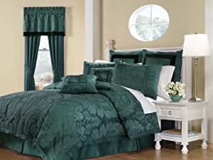 Royal Heritage Home Lorenzo Teal 8-Piece Queen Size Comforter Set