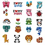 XUBX 5D DIY Diamond Painting Kits for Kids, Mosaic Sticker by Numbers Kits Arts and Crafts Set for Children (Animal Set)