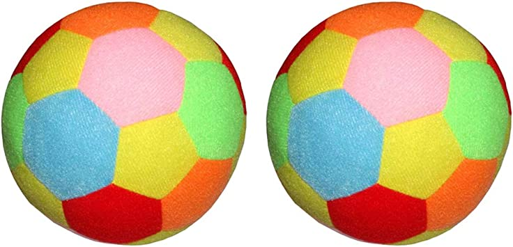 CUTICATE 2Pcs 9.5cm Balón de Fútbol Suave para Niños, los Colores ...