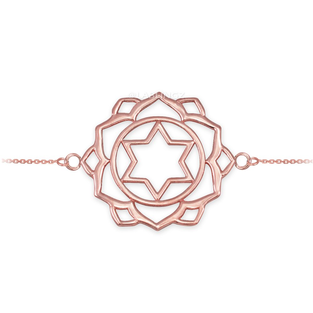 14K Rose Gold Anahata Love Chakra Yoga Bracelet