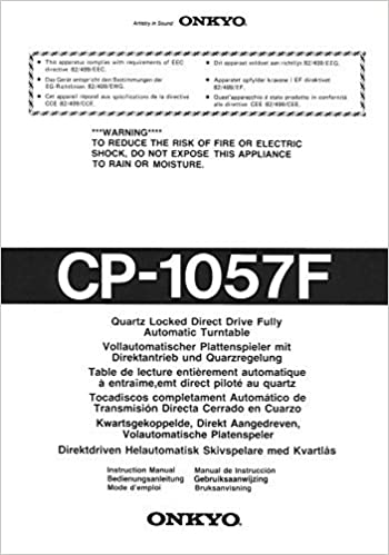 Onkyo CP-1057F Turntable Owners Instruction Manual Reprint ...
