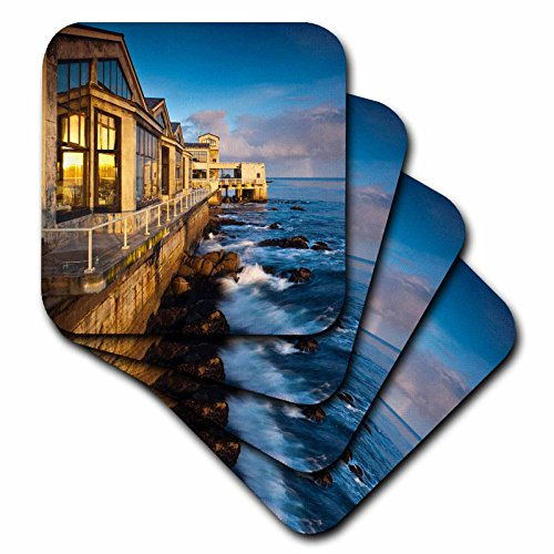 3Drose Cst 88706 1 California  Monterey Bay  Buildings   Us05 Wbi1140   Walter Bibikow   Soft Coasters  Set Of 4