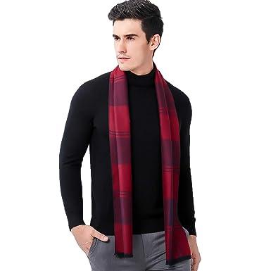 b55043e7217c heekpek Echarpe Homme Hiver Longue Chaude avec Franges Epaisse Doux 180    30cm  Amazon.fr  Vêtements et accessoires