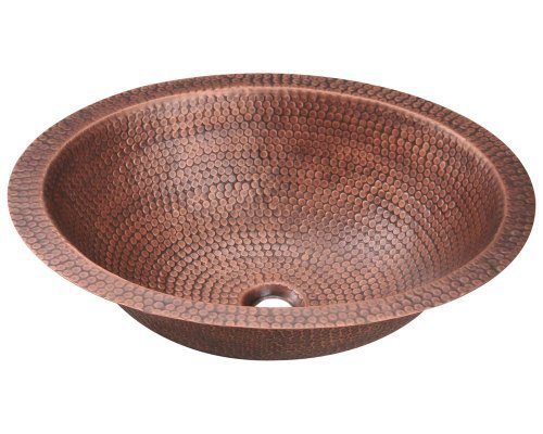 Polaris Sinks P019 Single Bowl Oval Copper Sink by Polaris Sinks by Polaris Sinks