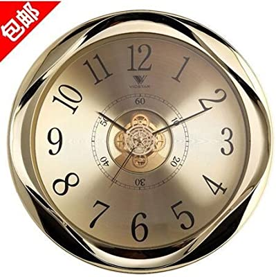 Y-Hui Gold Watches Quartz Clock In The Living Room Lounge The Lobby Wall Clock