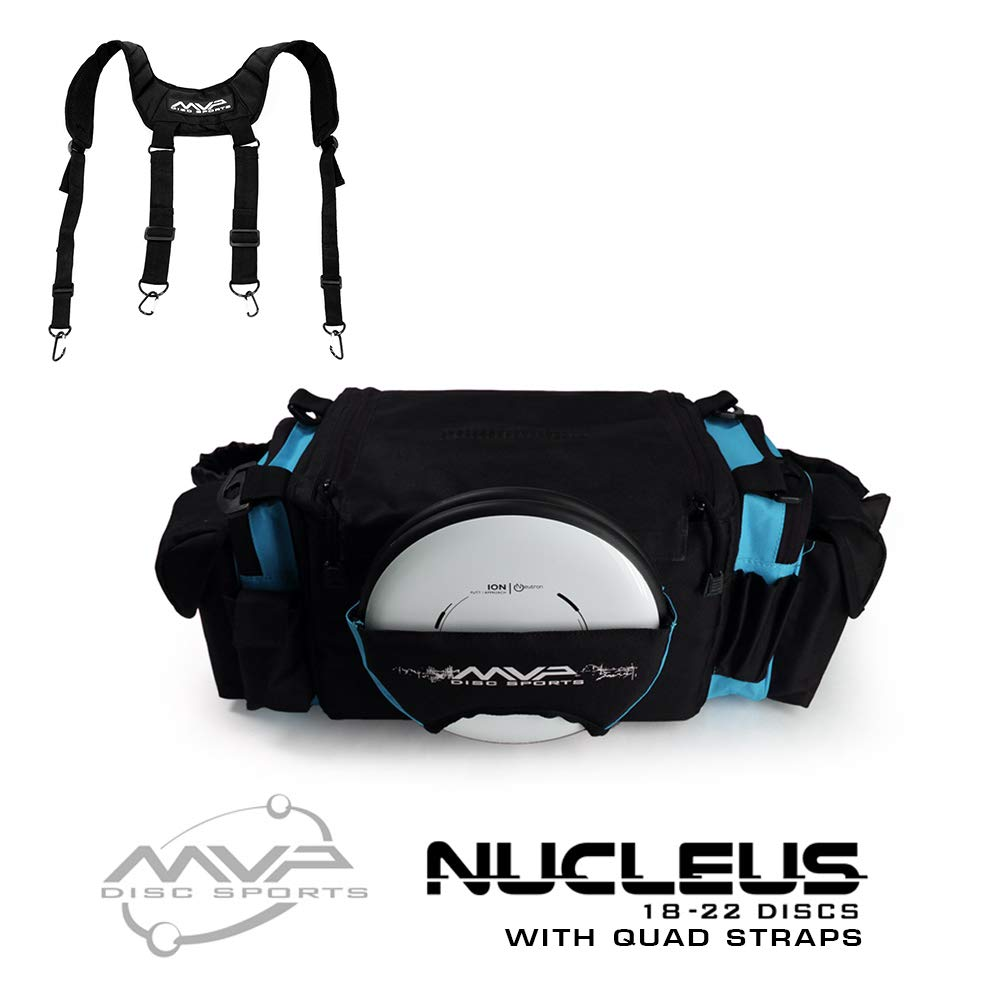 MVP Disc Sports Nucleus Tournament Disc Golf Bag with Quad Straps - Teal by MVP Disc Sports