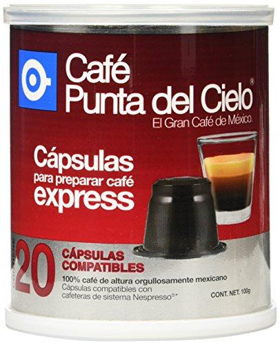 Café Punta del Cielo Cápsulas Compatibles para Preparar Café Express, 20 Cápsulas