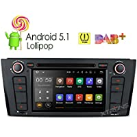XTRONS 7 Inch Quad Core Android 5.1 Lollipop Car Stereo Radio Capacitive Touch Screen DVD Player Screen Mirroring OBD2 Built-in DAB+ Tuner Tire Pressure Monitoring for BMW E81 E82 E88