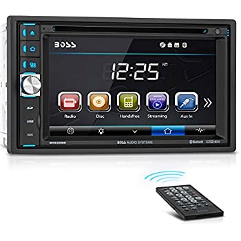boss audio bv9358b car dvd player - double din, bluetooth audio and  calling, 6 2 inch lcd touchscreen monitor, mp3 player, cd, dvd, wma, usb,  sd,