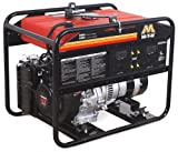 5000 Watt Portable Generator - Mi-T-M GEN-5000-0MHO Portable Generator with 270cc Honda OHV engine, 5000W, Red/Black