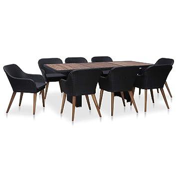 Festnight Mobilier de Jardin Exterieur 9 pcs Table et Chaise en ...