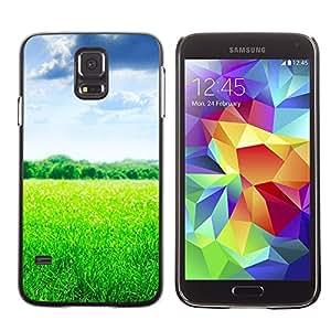 TopCaseStore / la caja del caucho duro de la cubierta de protección de la piel - Nature Beautiful Forrest Green 103 - Samsung Galaxy S5 SM-G900