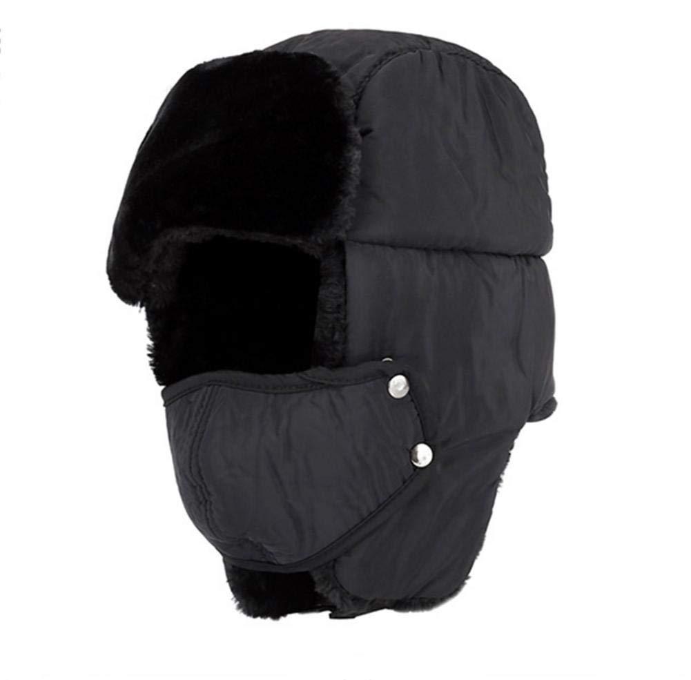 Berretto con maschera per invernale unisex da uomo e donna cinese lei Feng cappello da sci berretto protettivo esterno caldo flanella imbottiti ciclismo antivento freddo cappello, blu CampHiking®