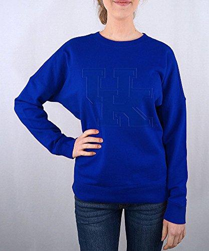 Elite Fan Shop Kentucky Wildcats Women's Crewneck Sweatshirt Captain Blue - Large (Uk Wildcats Womens Sweatshirt)
