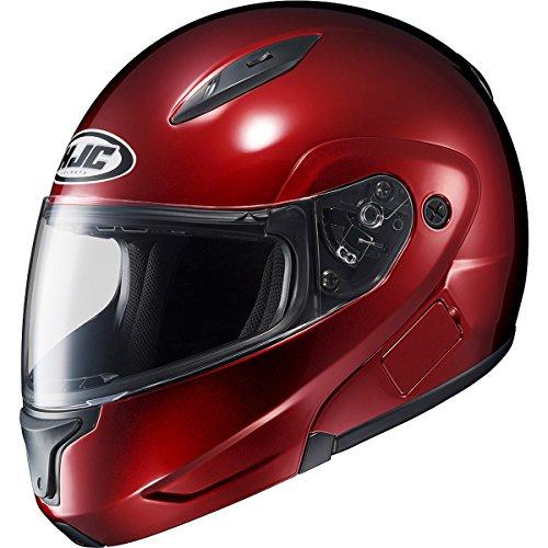 (HJC Metallic Men's CL-MAX II Bluetooth On-Road Motorcycle Helmet - Wine/Small)