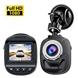 Dash Cam 1080P,Mini Dash Cam Dash Camera with 120 Degree Wide Angle Lens Digital Car Dashboard Camera Driving Video Recorder WDR, Loop Recording, Motion Detection G-Sensor Accfly