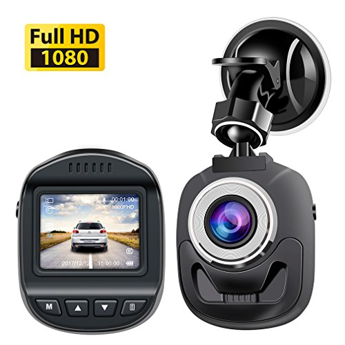 Accfly Mini Dash Cam 1080P, Car Camera 120 Degree Wide Angle Lens Digital Car Dashboard Camera Driving Video Recorder WDR, Loop Recording, Motion Detection G-Sensor - Digital Motion Detection Video Recorder