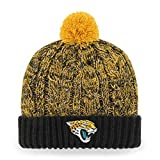 OTS NFL Jacksonville Jaguars Women's Brilyn Cuff Knit Cap with Pom, Team Color, Women's